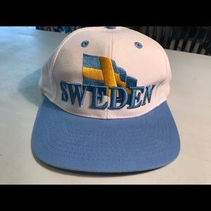 RARE  SWEDEN Flag Adjustable HAT